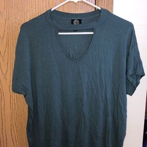 Basic teal tee from Nordstrom's, with neck cutout